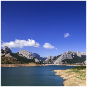 Reservoir of Riano in Leon, Spain
