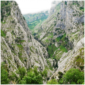 mountain gorge in national park Picos de Europa