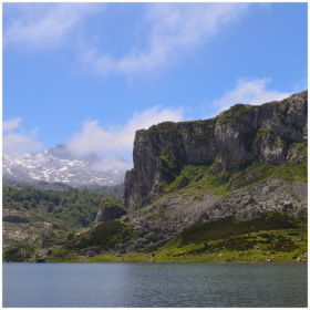 Lakes of Covadonga in Asturias.