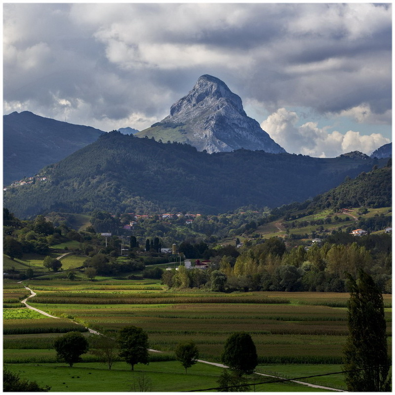 Picos de Europa mountains next to Fuente De village Cantabria Spain